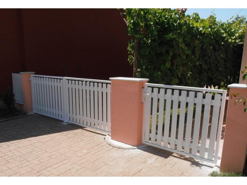 PVC panel za ograde TIP75V ravni
